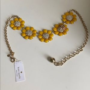 Kate spade enamel and crystal necklace in yellow